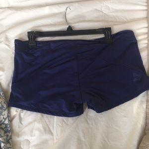 Navy blue bathing suit shorts